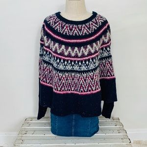 NWOT Sleeping on Snow Multi Colored Poncho Sweater